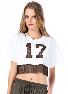 Good Sport Number 17 Cropped Tee