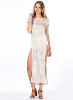 Swirled 'N Shadow Striped Maxi Dress