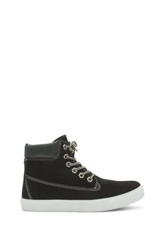 Faux Nubuck High Top Sneakers