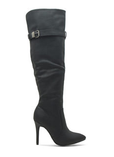 Faux Leather Over-The-Knee Stiletto Boots