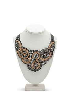 Mixed Metallic Beads 'N Chains Necklace