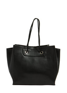Drawstring Metal Accent Handbag