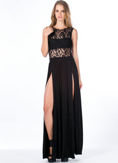 Lace Cadet Sleeveless Maxi Dress
