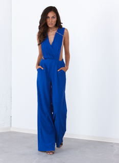 Pleated 'N Zipped Wide Leg Jumpsuit