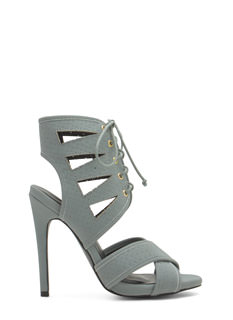 Triangulated Perforated Cut-Out Heels