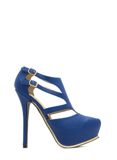 Textured Toothsome Strappy Platforms