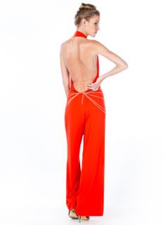 Take The Plunge Palazzo Jumpsuit