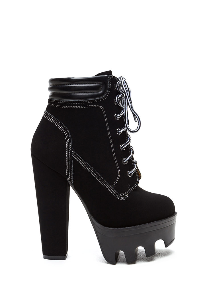 Tread Ruggedly Faux Nubuck Booties