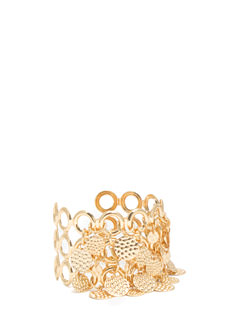 Textured Paillette Chain Cuff