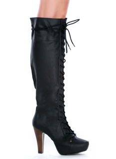 Perfectly Laced Chunky Boots