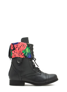 Cuff It Up Lace-Up Boots