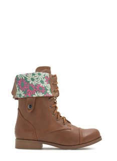 Cuff It Down Lace-Up Boots