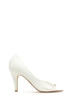 Go Halfsies Faux Leather D'Orsay Heels