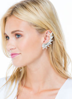 Faux Jewel Earring 'N Ear Cuff Set