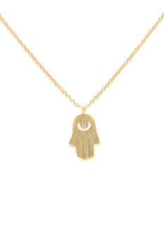 Dainty Metallic Hamsa Necklace