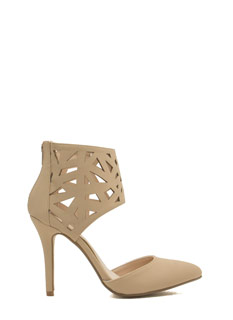 Leave It 2 Geo Faux Nubuck D'Orsay Heels