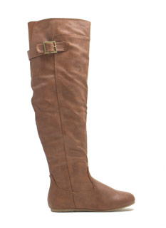 Plain And Simple Tall Buckled Boots