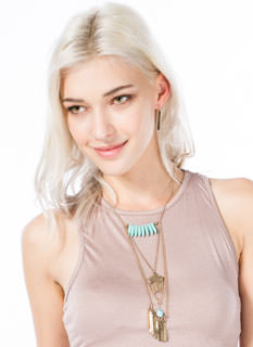 Tribal Fringe Necklace Set