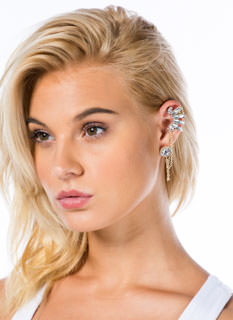 Jeweled Cuff 'N Earring Set