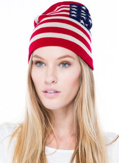 Stars 'N Stripes Knit Beanie