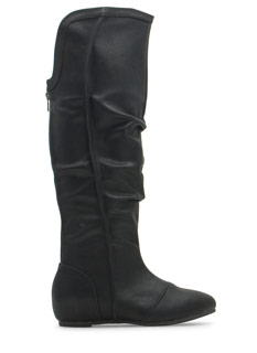 Notched Back Knee-High Boots