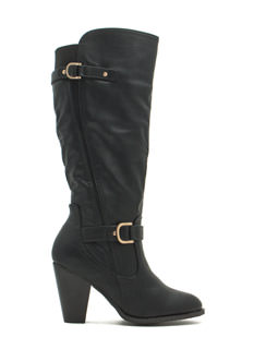 Riding Hardware Heeled Boots