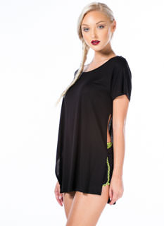 Lead A Double Life Side Slit Tee