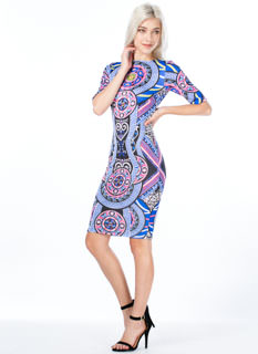 Geo Kaleidoscope Bodycon Dress
