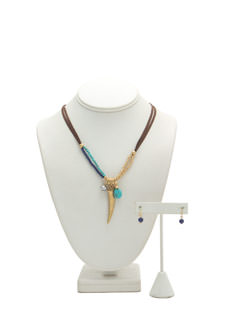 Bohemian Tusk Necklace Set