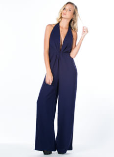 Vacay Chic Halter Wide Leg Jumpsuit