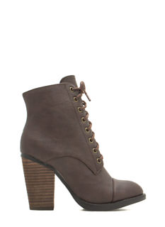 City Chic Faux Leather Booties