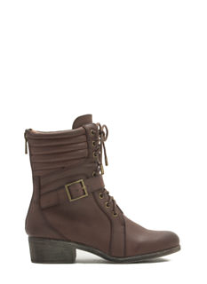 Quilt The Search Faux Leather Boots
