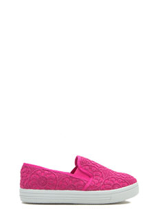 Free 2 Roam Embroidered Slip-On Sneakers