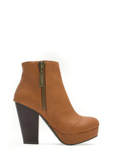 Modern Mod Zippered Platform Booties
