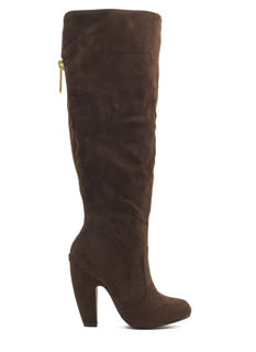 Zip To It Faux Suede Boots