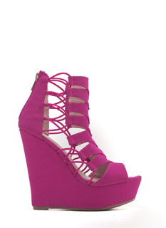 Moving Forward Cord Caged Wedges