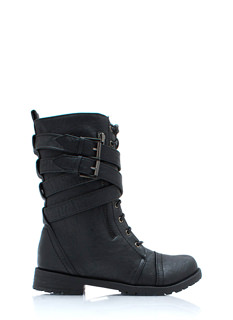 Buckled Duo Wraparound Boots