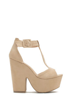 Thru Thick 'N Thin Faux Suede Heels