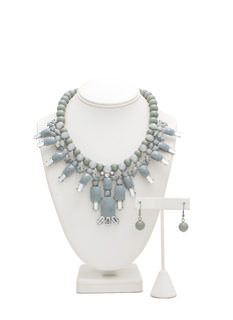 Bead Me To It Faux Jewel Necklace Set
