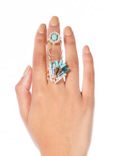 Gatsby Girl Faux Jewel Ring Duo
