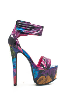 Pretty In Paint Faux Patent Platforms
