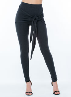 Knot So Fast Tie-Front Solid Pants