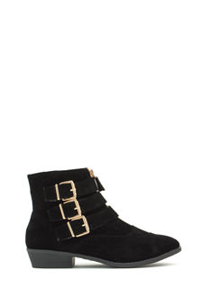 Tri-Buckle 'N Zip Booties