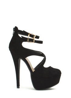 Cross The Intersection Platform Heels