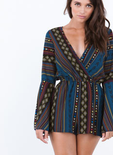 Gone Tribal Bell Sleeve Romper