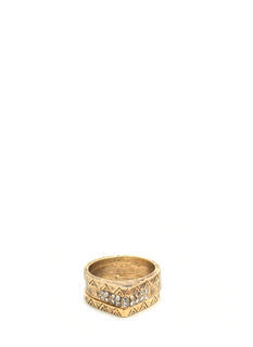 Triple Antique Midi Ring Set