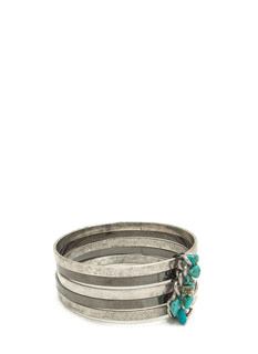 Mix It Up Faux Stone Bangle Bracelet