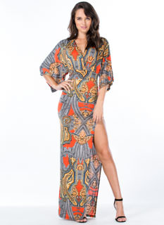 Flea Market Girl Paisley Maxi Dress