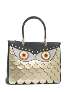 You're A Hoot Owl Faux Leather Handbag
