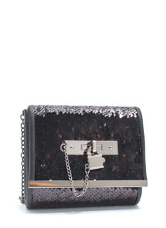 Just Wanna Dance Faux Leather Sequin Clutch